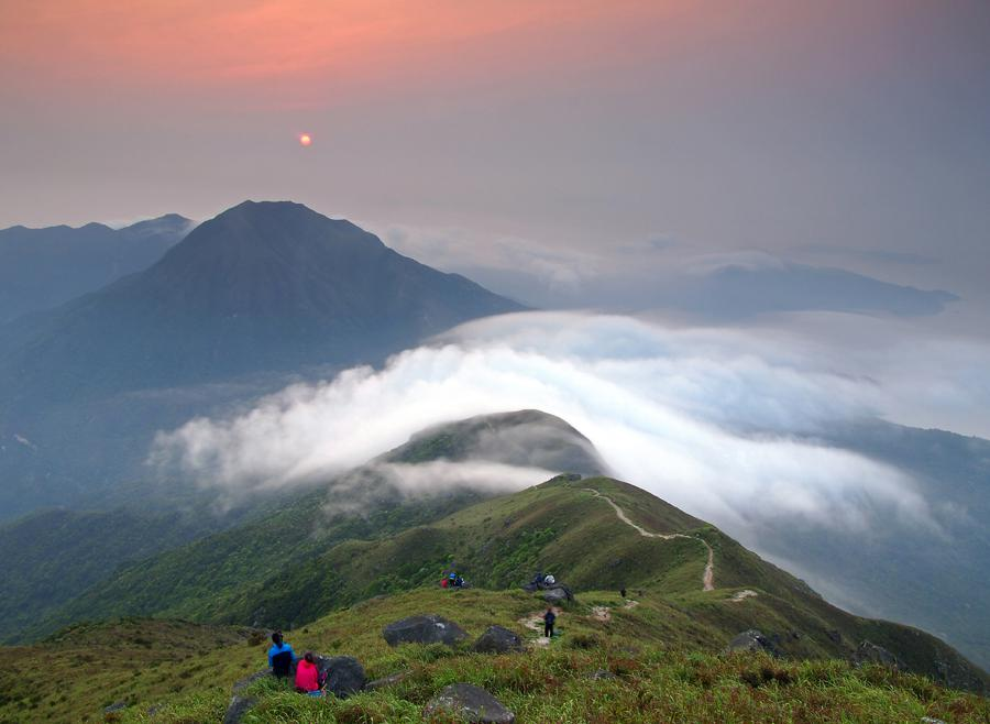 Sunset Peak seen from Lantau Peak