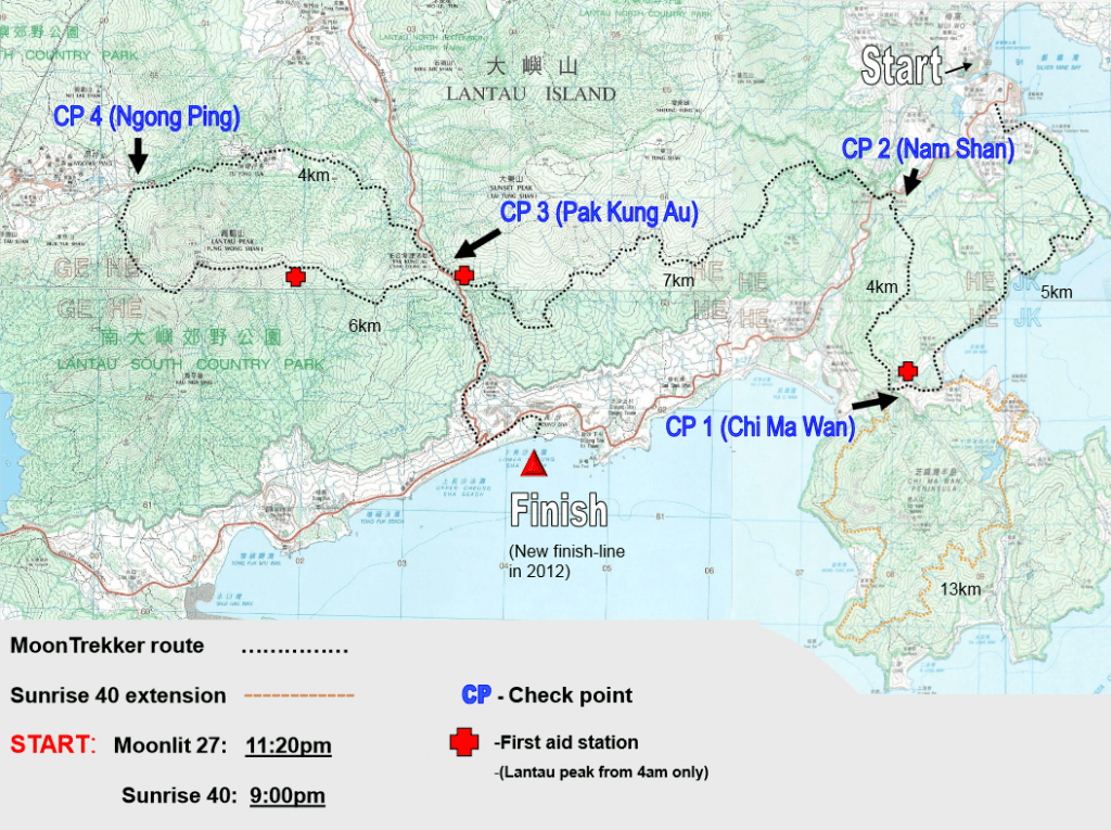 Barclays Moontrekker Route Map
