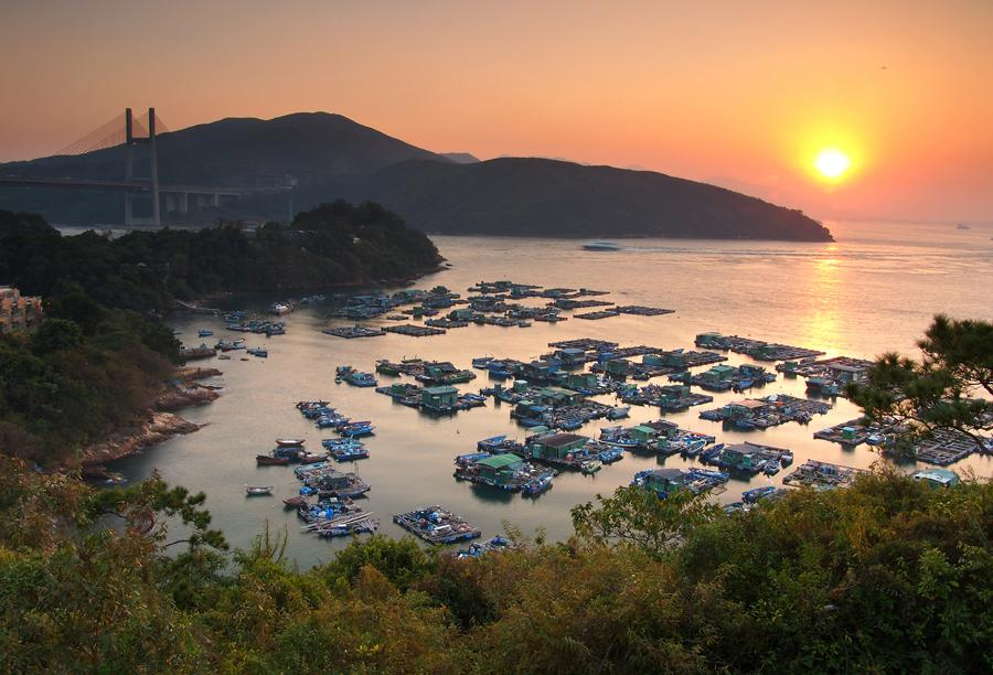 Fishing Rafts at Tam Shui Wan and Shek Tsai Wan (Photo by Yip Ho Fai 一毫子)