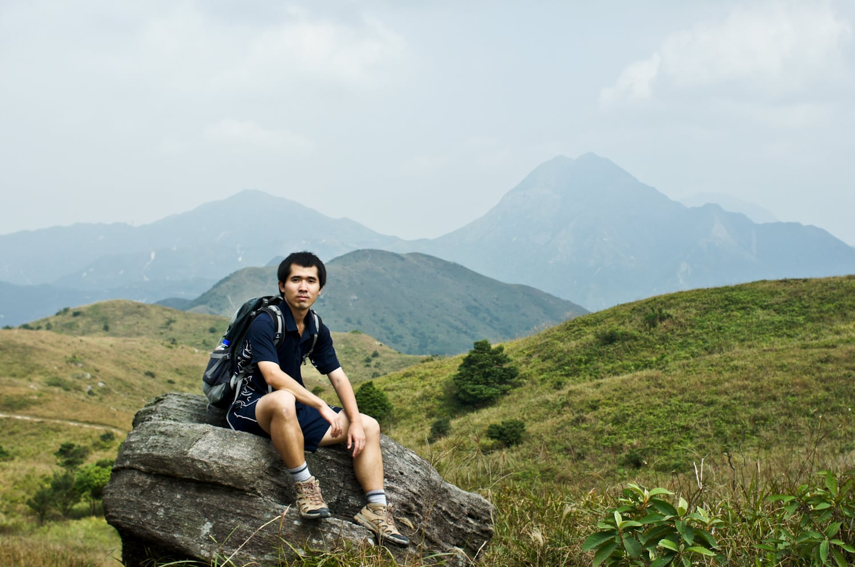 Chensong with Lantau Peak