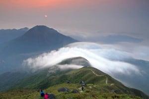 Sunset Peak seen from Lantau Peak