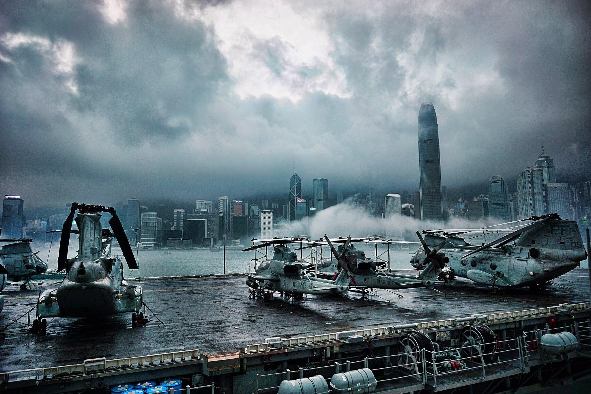 USS Peleliu (Amphibious Assault Vessel) at Victoria Harbor, Hong Kong