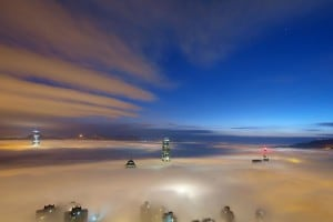 Sea of Clouds at Lugard Road on The Peak | 山頂盧吉道雲海