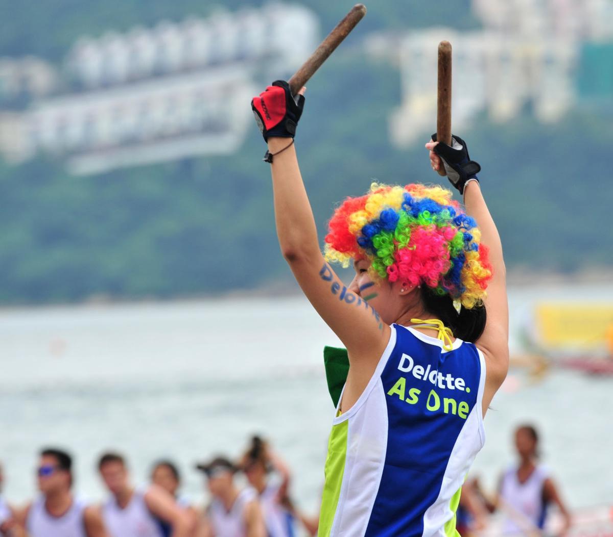 Hong Kong Dragon Boat at Tuen Ng Festival at Stanley