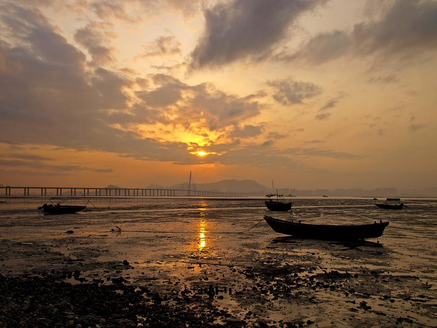 Sunset at Lau Fau Shan 流浮山日落