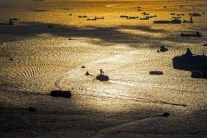 Ships at Victoria Harbour, Deep Water Ports at Hong Kong