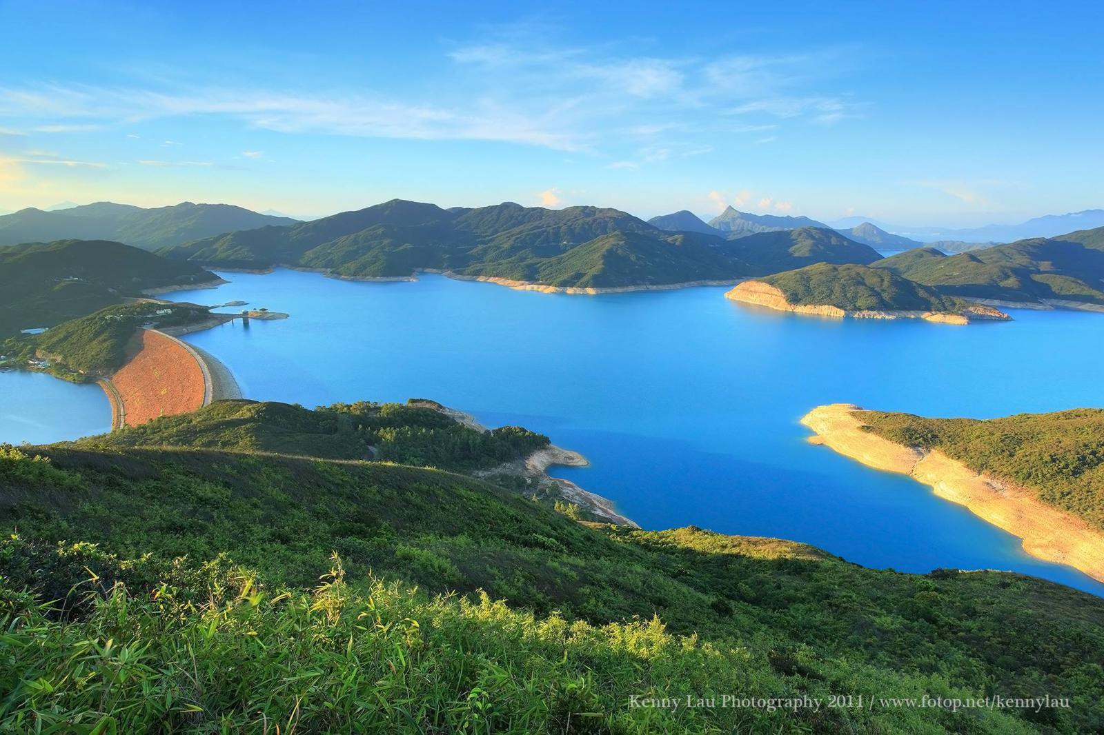 High Island Reservoir seen from Tai She Teng