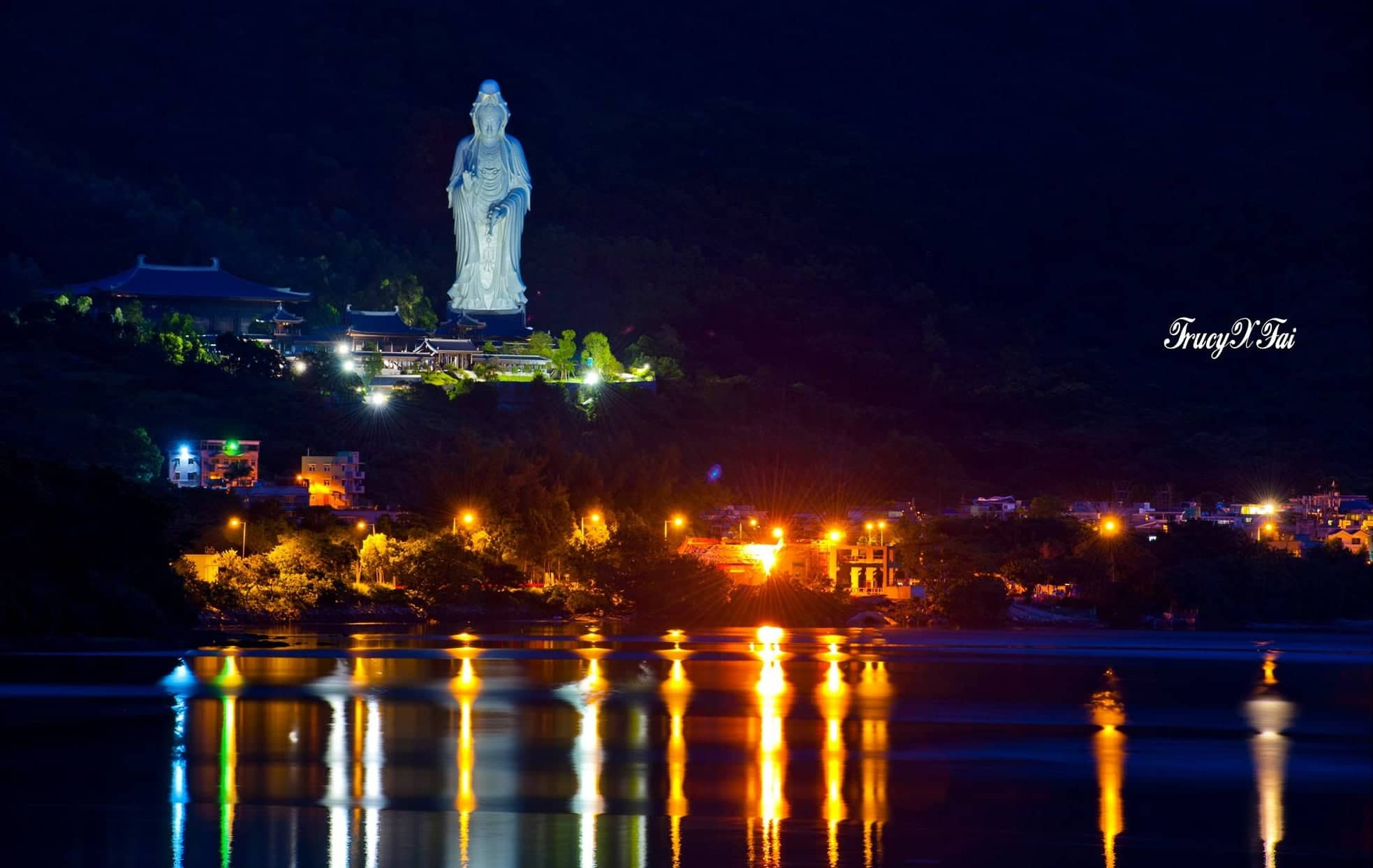 World's Tallest Bronze Statue Of Guanyin at Chi Shan Temple
