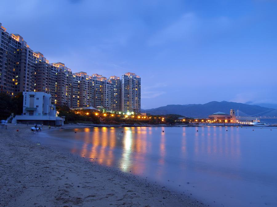 Park Island and Tung Wan Beach at Ma Wan | 珀麗灣和東灣泳灘